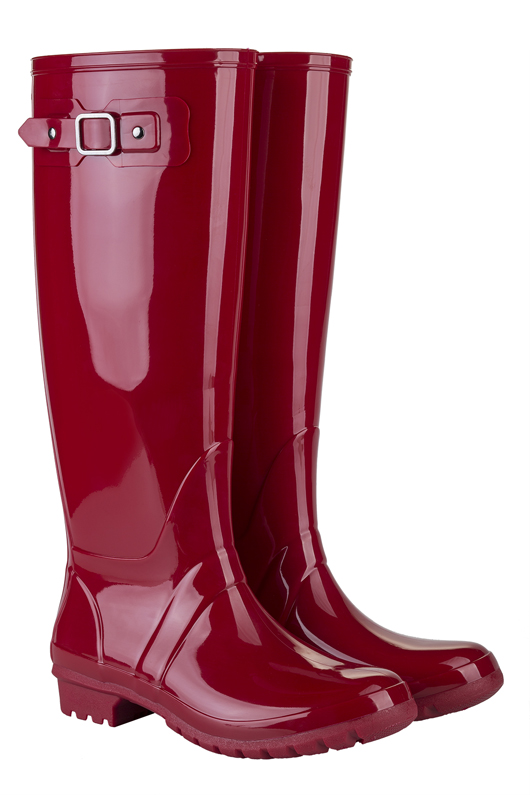 botas de agua para mujer, Glow Rojo