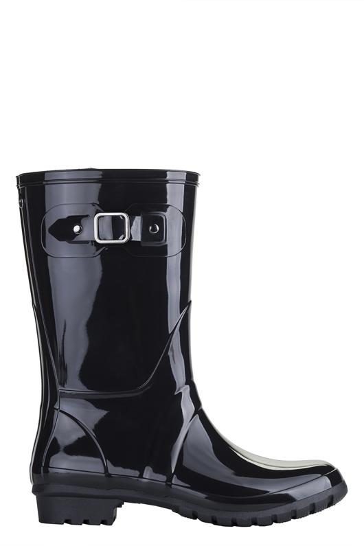 botas de agua para mujer, Mini Glow Negro